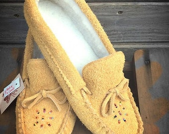 Authentic, Native Moccasin Slippers