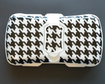 Houndstooth Wipes Case, Travel Wipes Case, Baby Shower Gift, Wipes Container, Baby Wipes Box