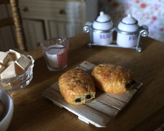 Pain au chocolat in polymer clay