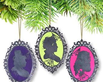 Hocus Pocus Sanderson Sisters Cameo Ornaments-Set of (3) (Disney)