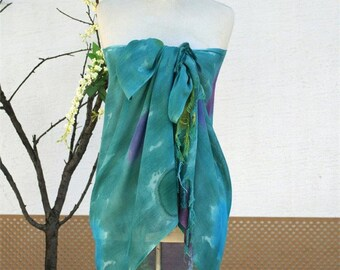 Green Tie dye pareo,shawl,beach cover up,green,beachwear,sarong,cover up,beach wrap,beach sarong