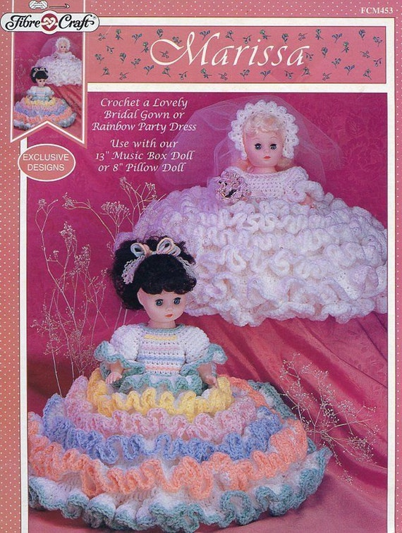 Marissa fibre craft pillow or bed doll clothes crochet for Fibre craft 18 inch doll