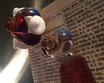 Set of Glass Flower Magnets
