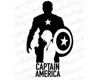 Captain America SVG file for Silhouette or other craft cutters (.svg/.dxf/.eps/.pdf)