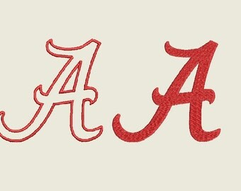Alabama Applique Embroidery Design - 2 in 1 Instant Download