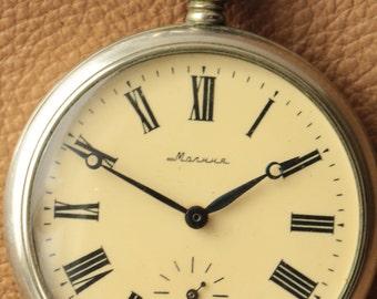 Soviet watch.3602.Open Face.Vintage watch.Mechanical watch.Pocket Watch.Collectible.Mens watch. Russian watch.USSR