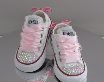 Baby/Toddler Girls Custom Crystal *Bling* Converse - Many Options Available