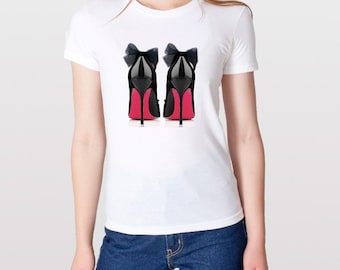 Black Heels Fashion T shirt, Black stilettos Tee, Black High Heels Tee Shirt, Fashion Graphic Tshirt, Fashion Tee, Graphic TShirt, Shoe love