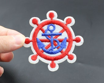 Rudder Anchor Iron On Patch Embroidered patch 6.5x6.5cm - PH110