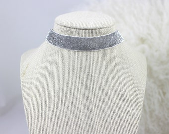 Sparkly Silver Choker