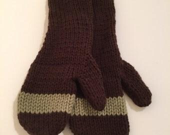HERAknitting hand knit wool mittens