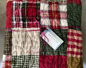 Plaid Flannel Quilt- Patchwork Flannel Quilt- Flannel Throw Quilt- Flannel Baby Quilt- Flannel Toddler Quilt- Traditional Quilt