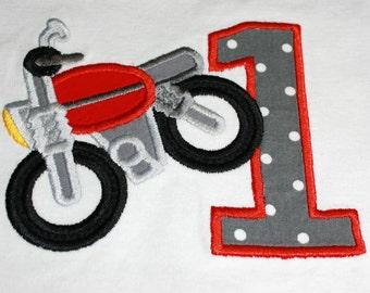 First Birthday Boy Dirt Bike Bodysuit