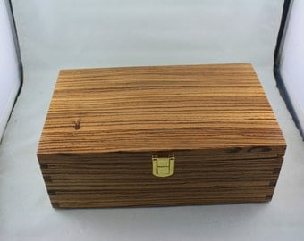 South African Zebrano Jewelry Box   SAZRM  6600107