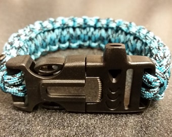 Fire Starter Paracord Bracelet with Whistle