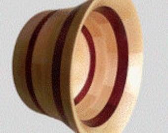 Purple Heart & Beech segmented wooden bowl - Made in the UK