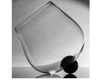 Hand Blown Wine Glass and Brandy Snifter - 15% OFF Valentines Special