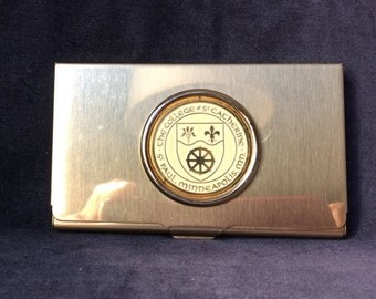 College of St. Catherine's business card holder
