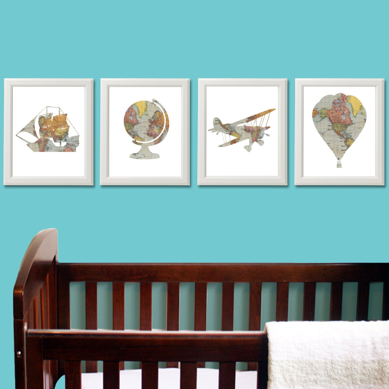 Nursery Decor Travel Theme Nursery Baby Shower Vintage