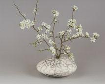 Shingle vase naked Raku -VG010