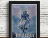Final Fantasy print   newspaper design   home interior   Final Fantasy art   gift   Final Fantasy wedding   vintage   Final Fantasy game   featured image