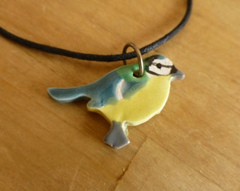 Bird necklace. Great Tit