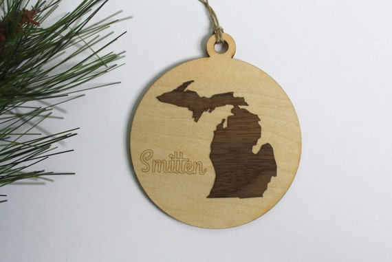 Smitten Michigan Ornament // Smitten Mitten // Christmas Tree Ornament // Michigan Tag // Made in Michigan // Christmas Gifts Under 10