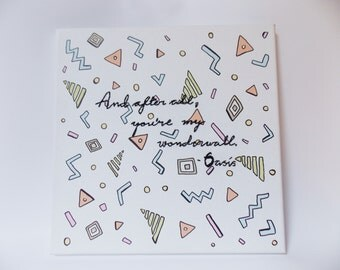 90s Quote Stitched Canvas