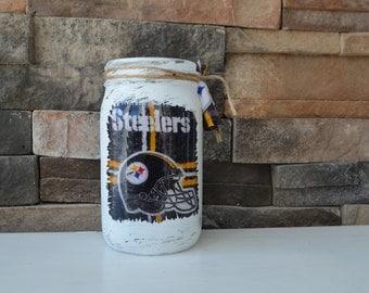 Steelers Decorative Mason Jar