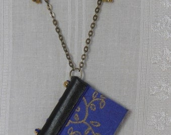 Petite Book Necklace