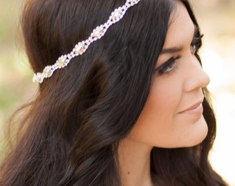 Bridesmaid Headband, Bridal Headpiece, Wedding Headband, Rhinestone Headband, Rhinestone Headpiece, Crystal Headpiece, Bridal Headband