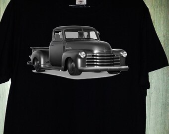 Icon Thriftmaster Pickup t-shirt car old school auto black and white, men's and women's gift present