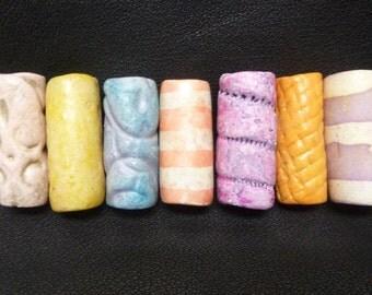 Clay Beads, Handmade Clay Beads, Colorful Handmade Beads, Colorful Beads