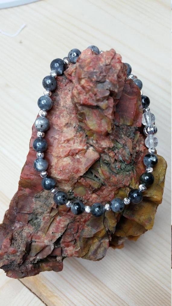 """Larvikite """"Norwegian Moonstone"""" Bracelet"""