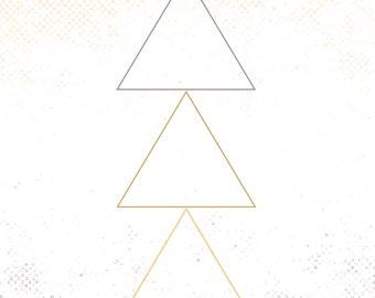 Pastel Triangle Digital Print