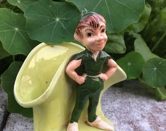 Vintage Pixie Planter- Elf - Peter Pan