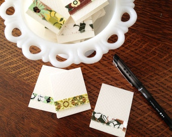 Fabric Gift Tags/Mini Notes #3 - Set of 6