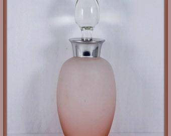 Vintage Perfume Bottle,Vintage Glass Perfume Bottle,Vintage Glass Bottle,Vintage Pink Glass Perfume Bottle,Vintage Glass Vanity