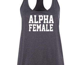 ALPHA FEMALE tank, workout tank, gym clothes, fitness wear