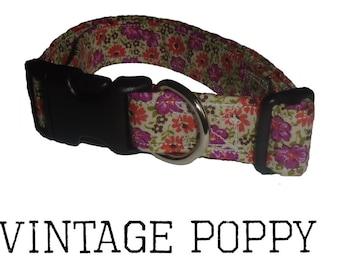 Vintage Fabric Dog Collar