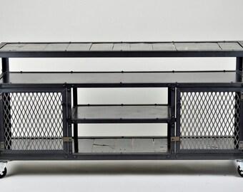 Industrial Media Console - Credenza - Bar Cart