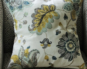 Pillow Cover Spring Mix Aloe Robert Allen