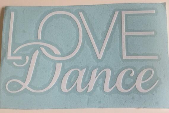 LOVE Dance Car Decal, Heart Decal, Love Heart Sticker, Love Dance Sticker, Love Sticker, Dance Sticker