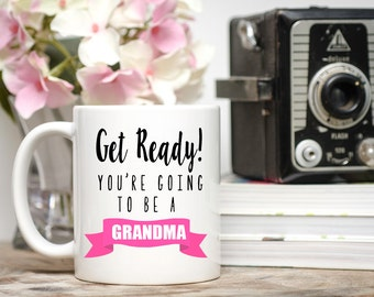 Pregnancy Announcement Mug, You're Going to be a Grandma, Pregnancy Reveal, Pregnancy Announcement Grandparents, Grandma Mug, Grandma Gift