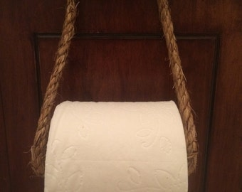 Nautical Rope Toilet Paper Holder (White)