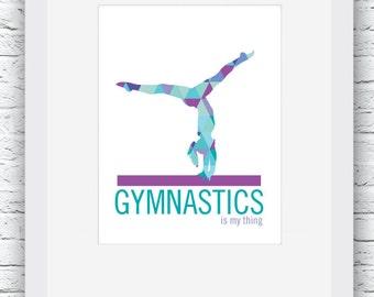 Gymnastics, Gymnastics Poster, Gymnastics Print, Gymnastics Art, Gymnastics Decor, Gymnastics Girl,Gymnastics Gift,Gymnast gift