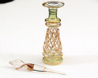 Ornate Bohemian Style Miniature Perfume Bottle....      J260
