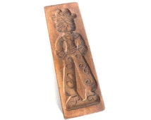 Wooden cookie mold. Wooden Dutch Folk Art Cookie Mold. speculaas plank / speculoos. #642G4BK8