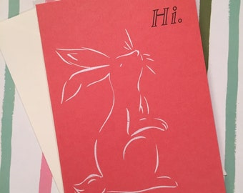 Hi Bunny (Set of Four Cards)