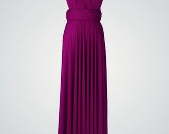 Plum Bridesmaid Dresses, infinity dress, gown, convertible dress, maternity dress, bridesmaid gown, party dress, Wedding Dress formal